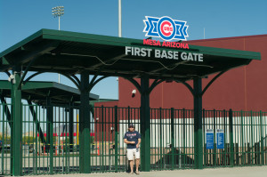 CactusCubbies in front of the First Base Gate at Cubs Park in Wrigleyville West.
