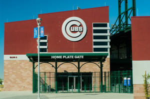 Cubs Park home plate entrance.