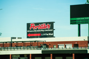 Portillos, a Chicago Cubs fan favorite restaurant is located at Tempe Marketplace just over a mile from Cubs Park.